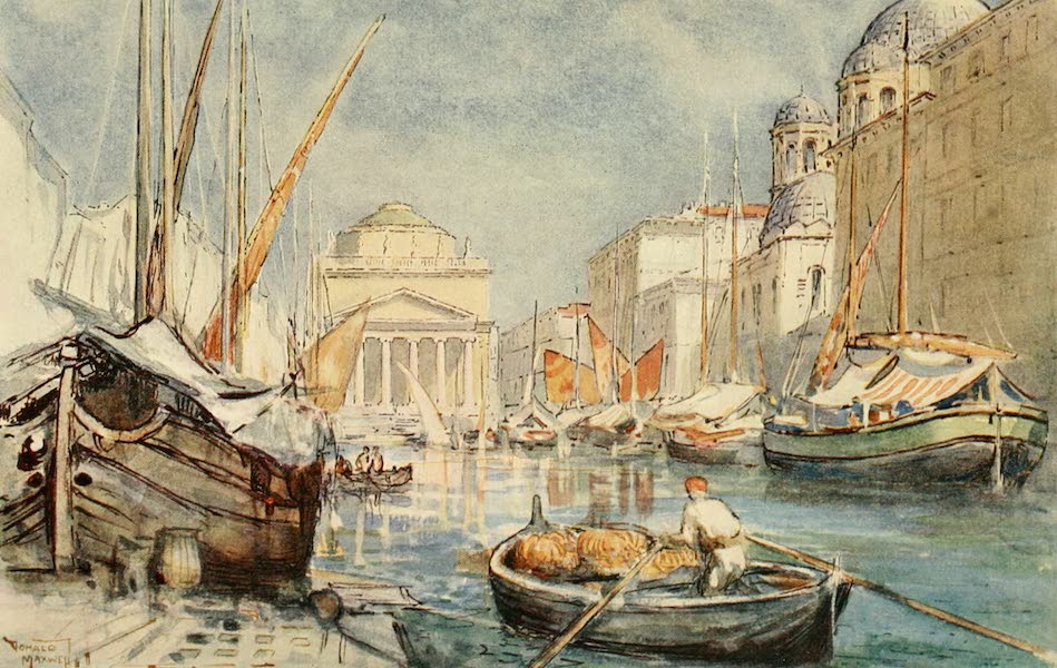 Austria: Her People and Their Homelands - The Grand Canal, Trieste (1913)
