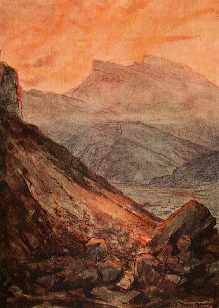 Austria: Her People and Their Homelands - The Scene which Inspired Dante's Inferno - The Larini di Marcio near Trieste (1913)