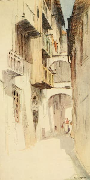 Austria: Her People and Their Homelands - A Back Street in Trento (1913)