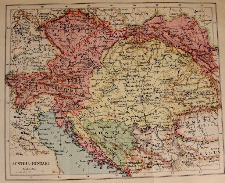 Austria: Her People and Their Homelands - Austria-Hungary Map (1913)