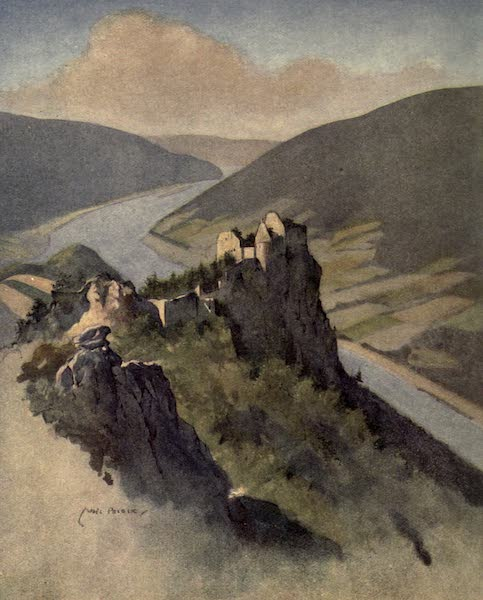 Austria-Hungary by G. E. Mitton - The Wachau, Aggstein (1914)