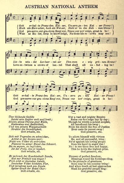 Austria-Hungary by G. E. Mitton - Austrian National Anthem (1914)