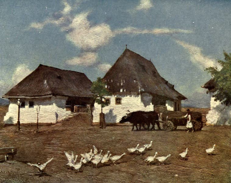 Austria-Hungary by G. E. Mitton - Cottages in the Alfold (1914)