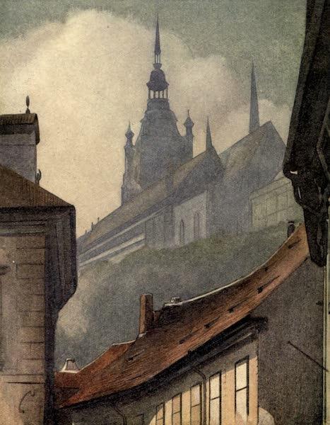 Austria-Hungary by G. E. Mitton - Prague : The Hradschin from Wallensteinstrasse (1914)