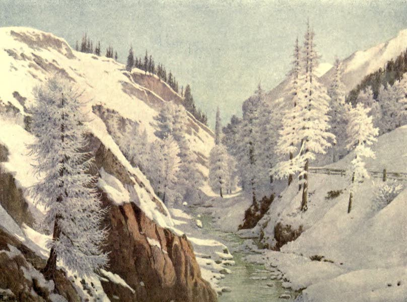 Austria-Hungary by G. E. Mitton - Inn Valley in Winter (1914)