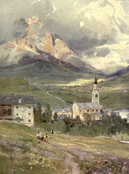Austria-Hungary by G. E. Mitton - Cortina and Mte. Cristallo (1914)