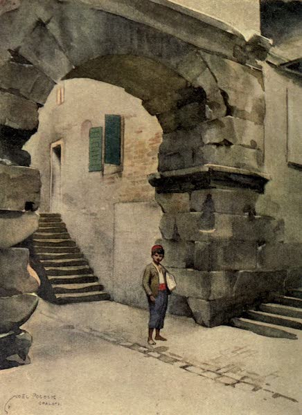 Austria-Hungary by G. E. Mitton - Spalato : A Door in Diocletian's Palace (1914)