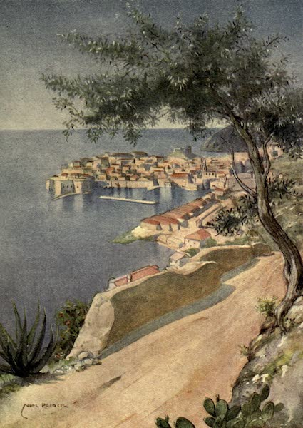 Austria-Hungary by G. E. Mitton - Ragusa : The Ploce Road from San Giacomo : Morning (1914)