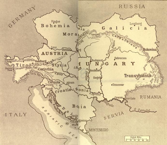 Austria-Hungary by G. E. Mitton - Sketch-Map of Austria (1914)