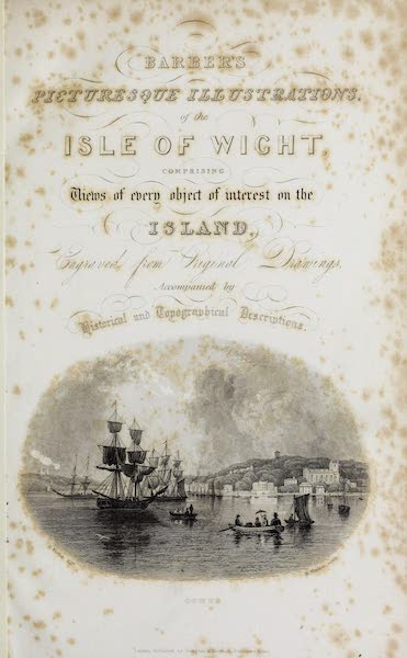 Barber's Picturesque Guide to the Isle of Wight - Title Page (1850)