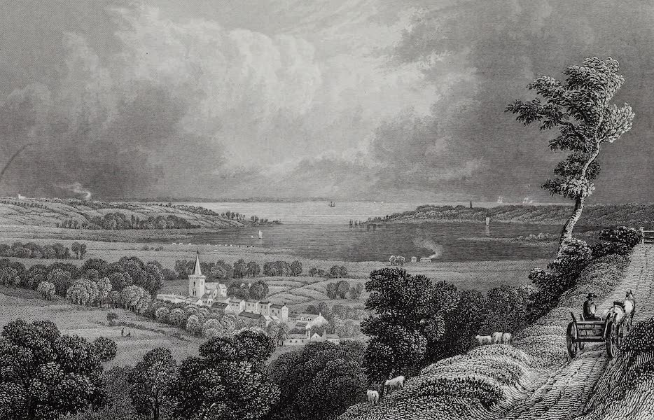 Barber's Picturesque Guide to the Isle of Wight - Brading, looking towards St. Helens (1850)