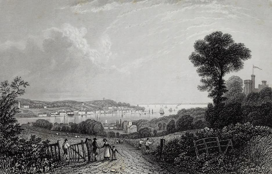 Barber's Picturesque Guide to the Isle of Wight - Cowes, from the East (1850)