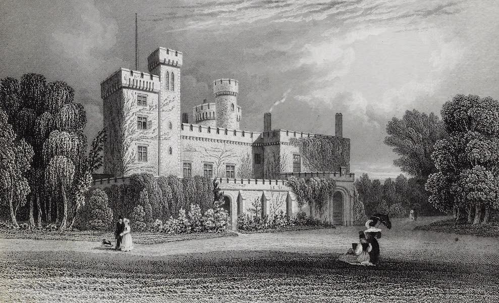 Barber's Picturesque Guide to the Isle of Wight - East Cowes Castle, the Seat of John Nash Esqr. (1850)