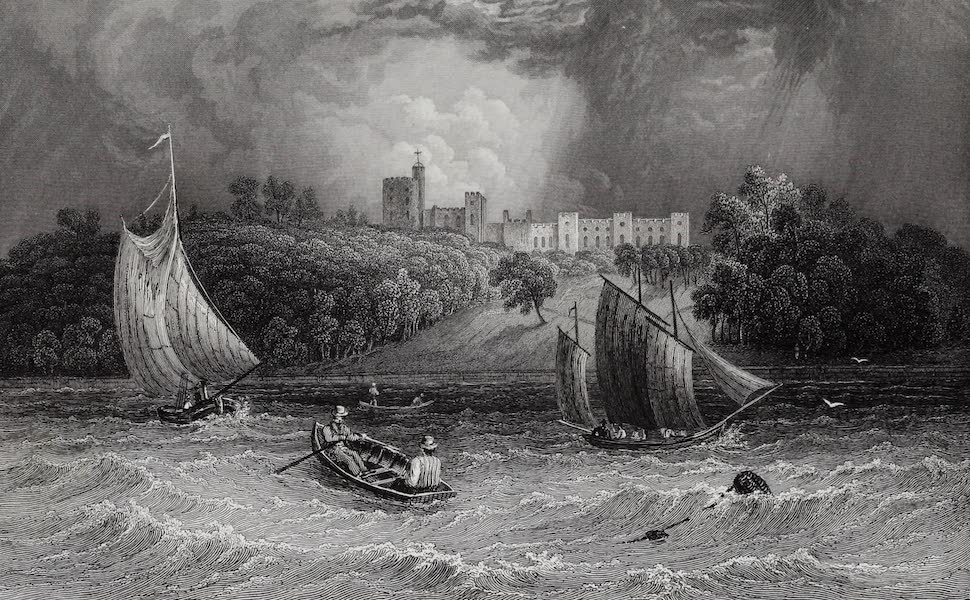 Barber's Picturesque Guide to the Isle of Wight - Norris Castle, the Seat of Lord George Seymour (1850)