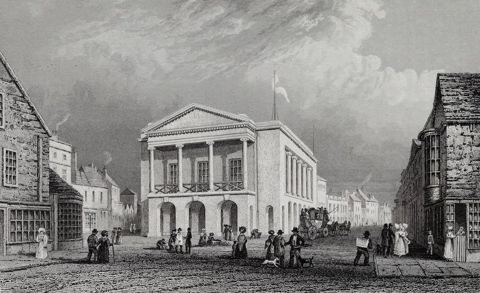 Barber's Picturesque Guide to the Isle of Wight - Town Hall, Newport (1850)