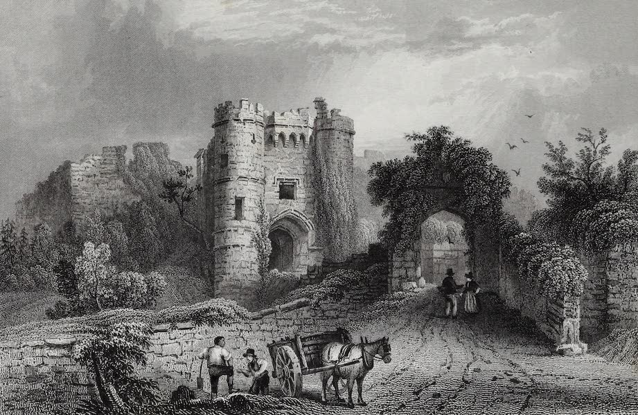 Barber's Picturesque Guide to the Isle of Wight - Carisbrook Castle (1850)