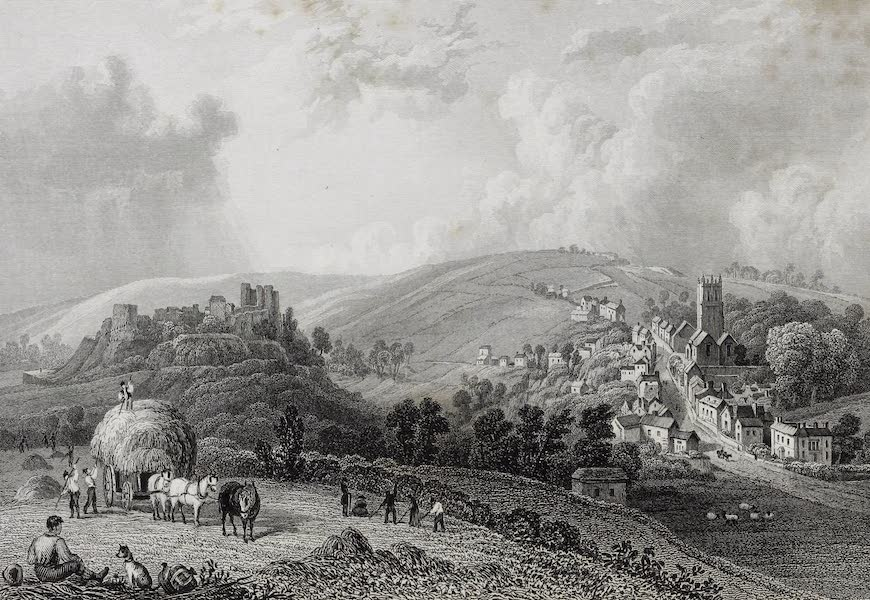 Barber's Picturesque Guide to the Isle of Wight - Castle and Village of Carisbrook (1850)