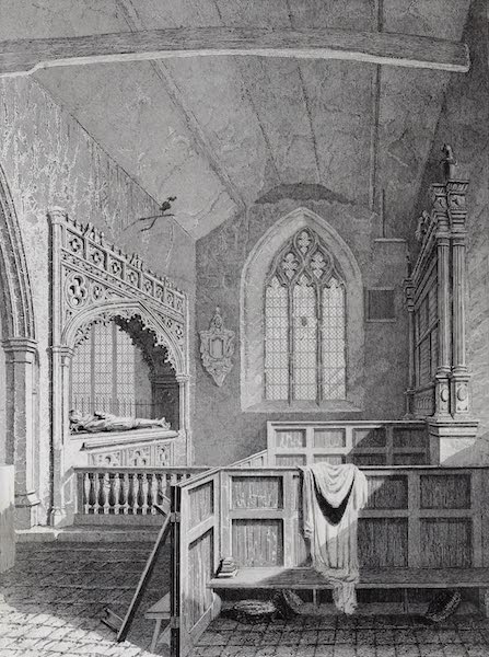 Barber's Picturesque Guide to the Isle of Wight - Interior of Godshill Church (1850)