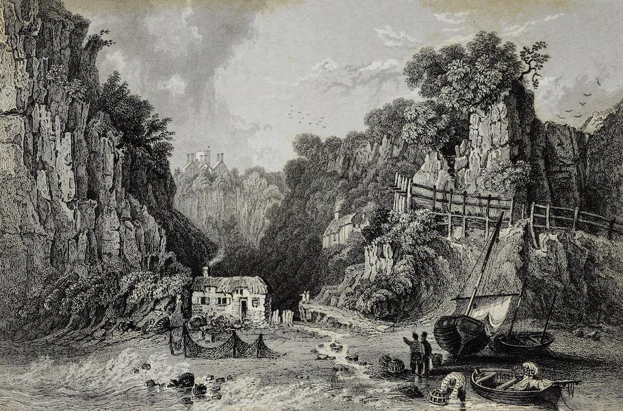 Barber's Picturesque Guide to the Isle of Wight - Shanklin Chine [I] (1850)