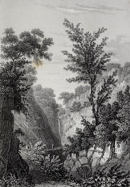 Barber's Picturesque Guide to the Isle of Wight - Head of Shanklin Chine (1850)