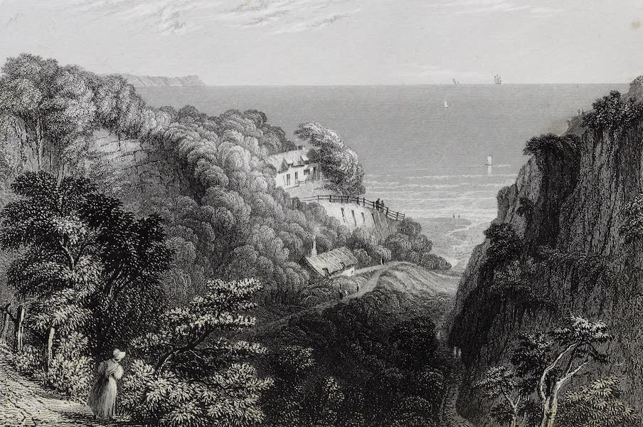 Barber's Picturesque Guide to the Isle of Wight - Shanklin Chine [II] (1850)