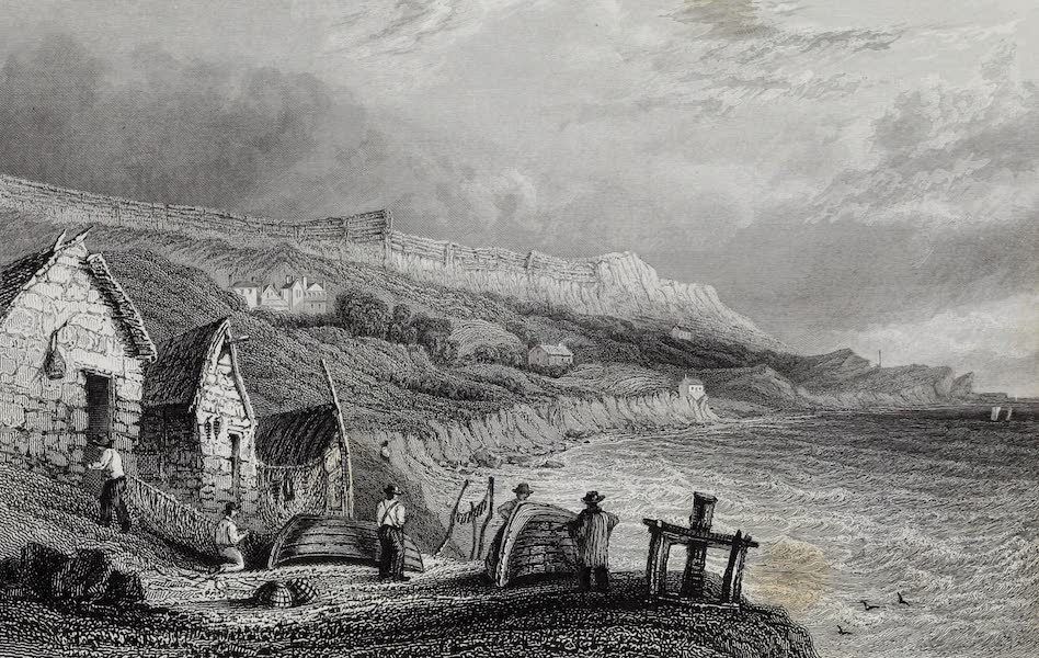 Barber's Picturesque Guide to the Isle of Wight - Puckaster Cove (1850)