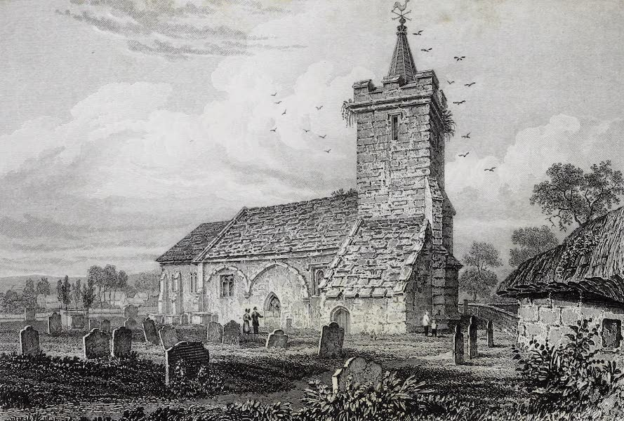 Barber's Picturesque Guide to the Isle of Wight - Niton Church (1850)