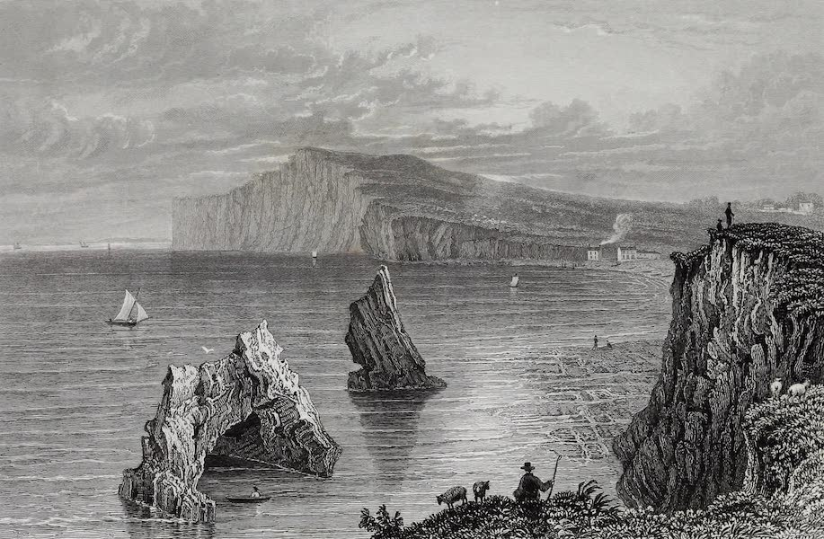 Barber's Picturesque Guide to the Isle of Wight - Freshwater Bay (1850)