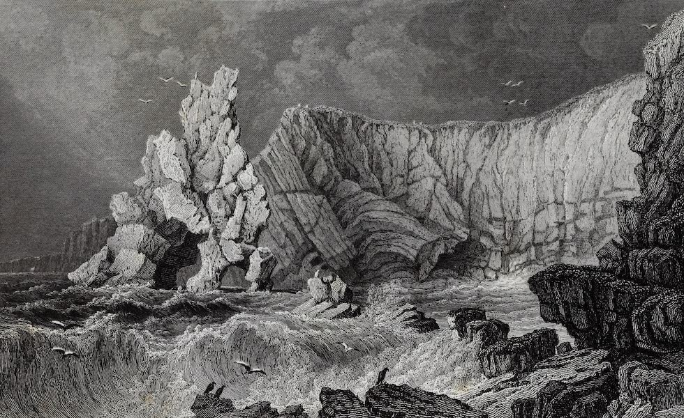 Barber's Picturesque Guide to the Isle of Wight - View near Freshwater Bay (1850)