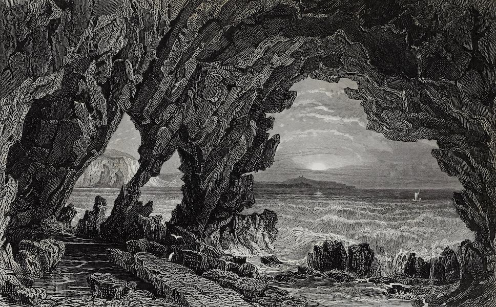 Barber's Picturesque Guide to the Isle of Wight - Freshwater Cave (1850)