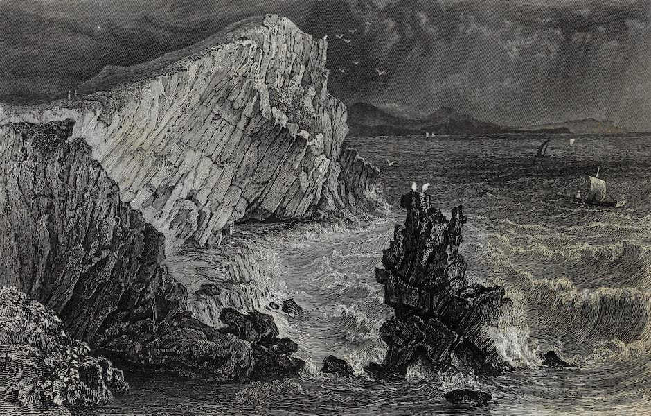Barber's Picturesque Guide to the Isle of Wight - Watcombe Bay (1850)