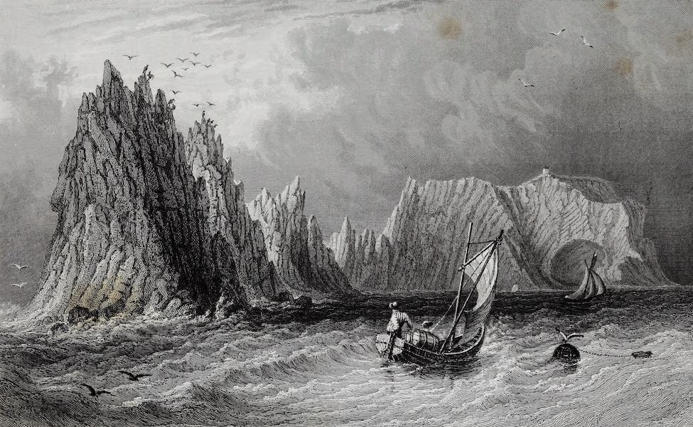 Barber's Picturesque Guide to the Isle of Wight - The Needles and Scratchell's Bay (1850)