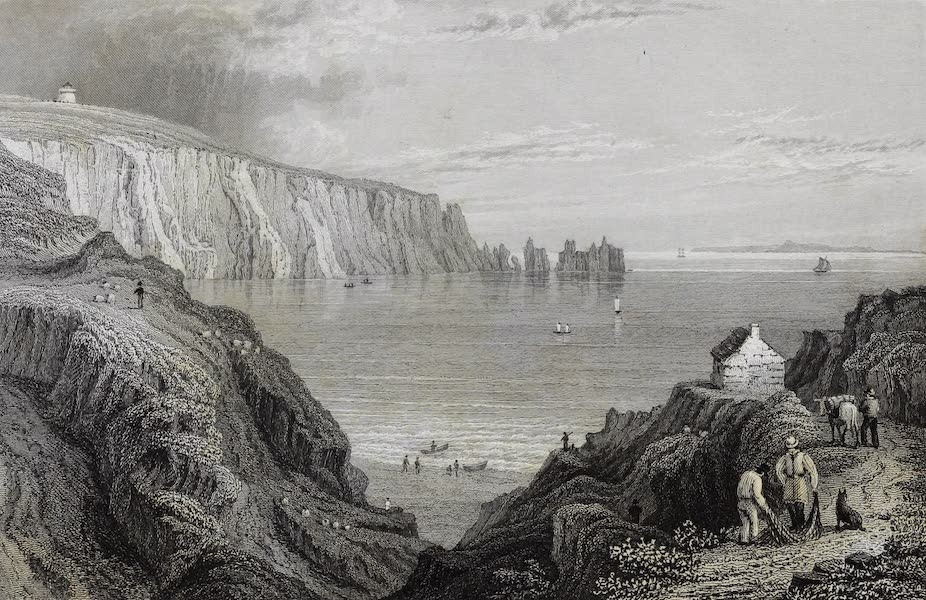 Barber's Picturesque Guide to the Isle of Wight - Alum Bay (1850)