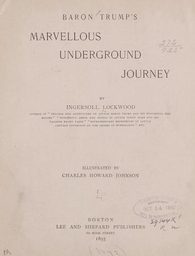 Library of Congress - Baron Trump's Marvellous Underground Journey