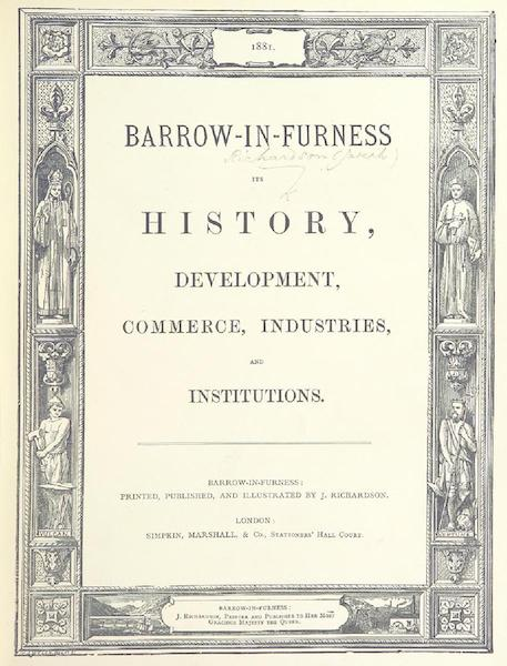 Barrow-in-Furness, It's History etc. - Title Page (1881)