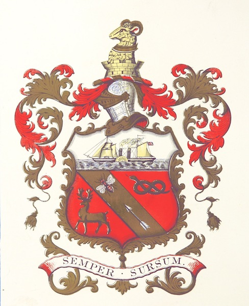 Barrow-in-Furness, It's History etc. - Arms of the Borough of Barrow in Furness (1881)