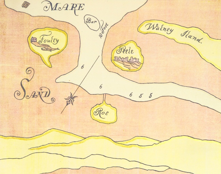 Barrow-in-Furness, It's History etc. - Facsimile of Drawing Sent to Samuel Pepys - 1667 (1881)