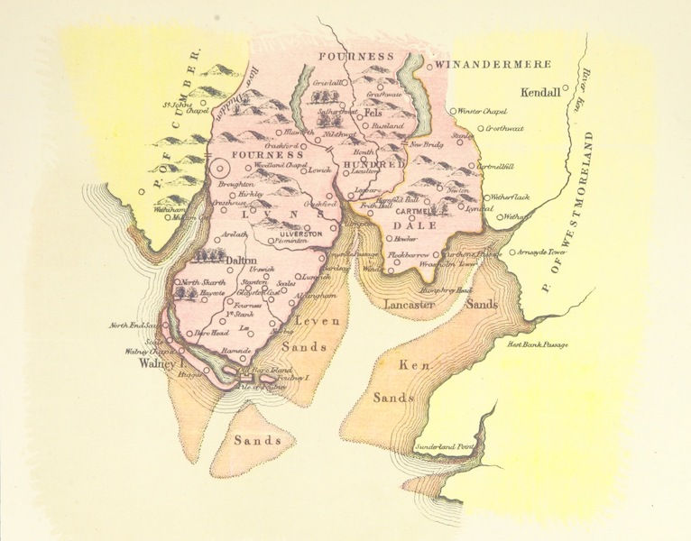 Barrow-in-Furness, It's History etc. - Map of Furness from Camden's Britannia circa 1600 (1881)