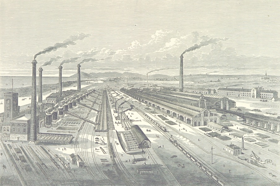 Barrow-in-Furness, It's History etc. - Barrow Haematite Iron and Steel Works (1881)