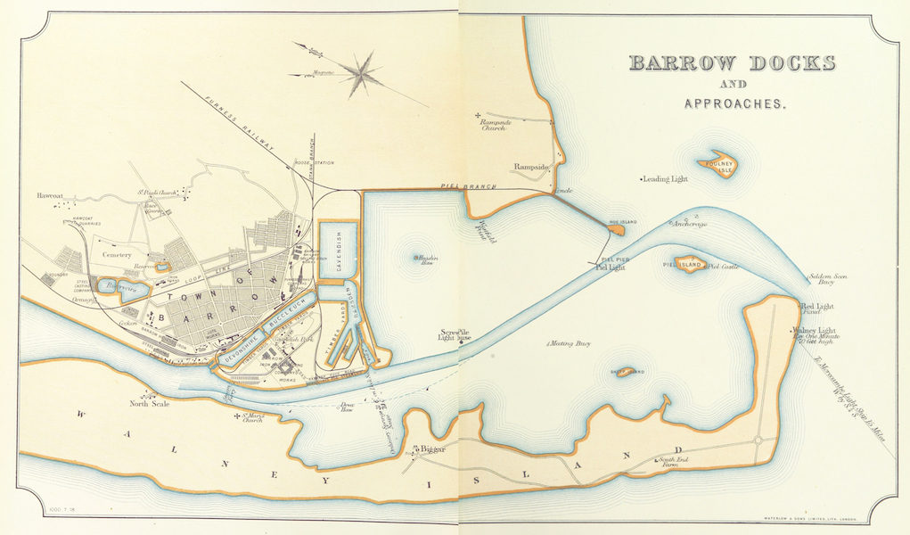 Barrow-in-Furness, It's History etc. - Barrow Docks and Approaches (1881)