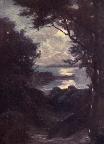 Beautiful Wales Painted and Described - Beaumaris - Moonlight (1905)