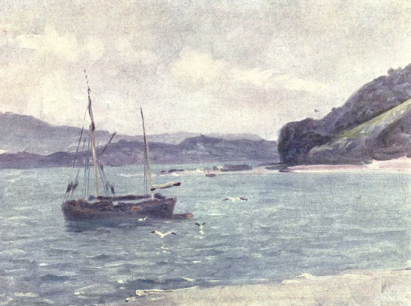 Beautiful Wales Painted and Described - The Beach, Beaumaris (1905)