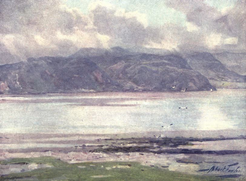 Beautiful Wales Painted and Described - Near Menai Straits (1905)