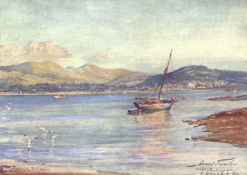 Beautiful Wales Painted and Described - Near Bangor (1905)