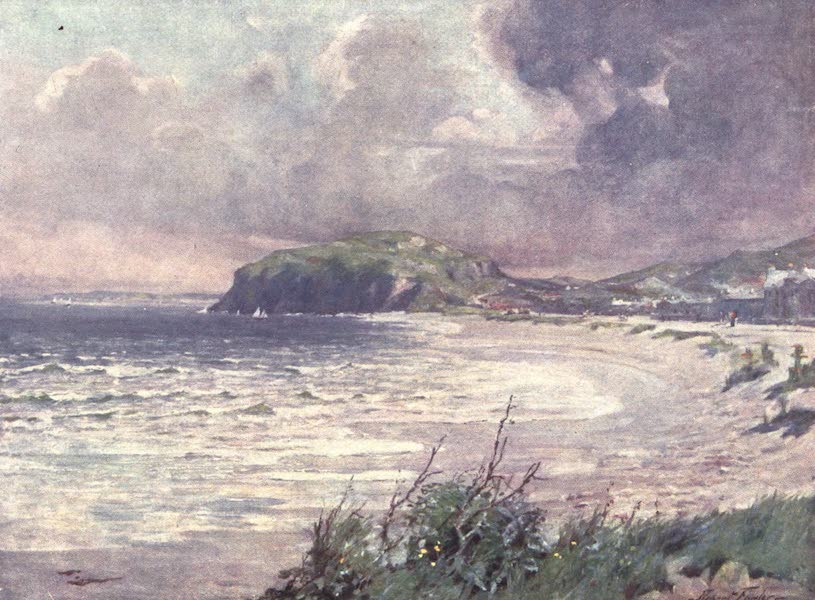 Beautiful Wales Painted and Described - Breezy Morning, Llandudno Bay (1905)