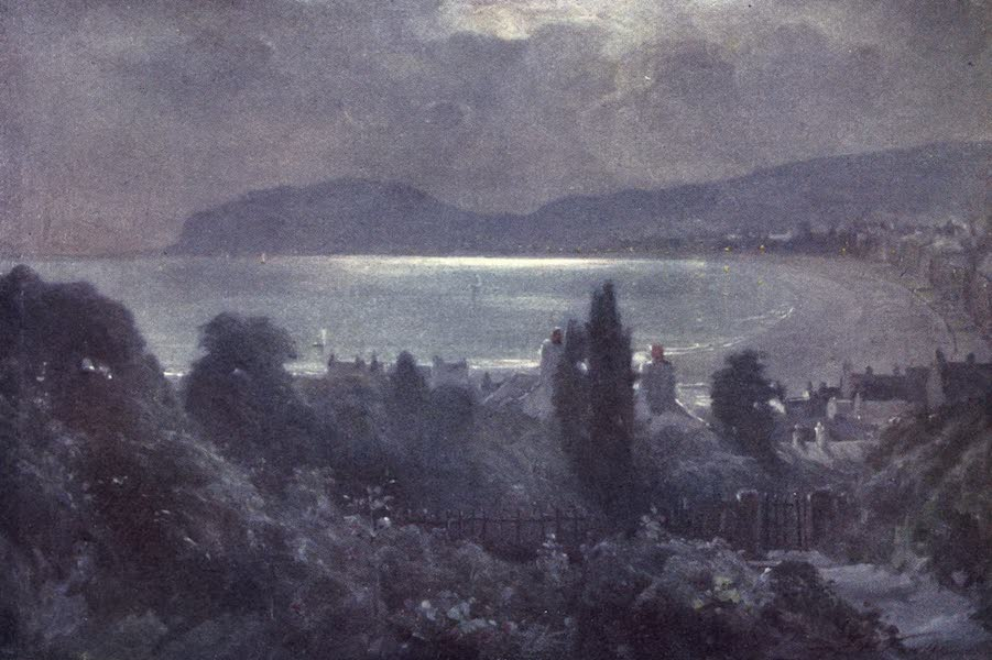 Beautiful Wales Painted and Described - A Nocturne, Llandudno Bay (1905)