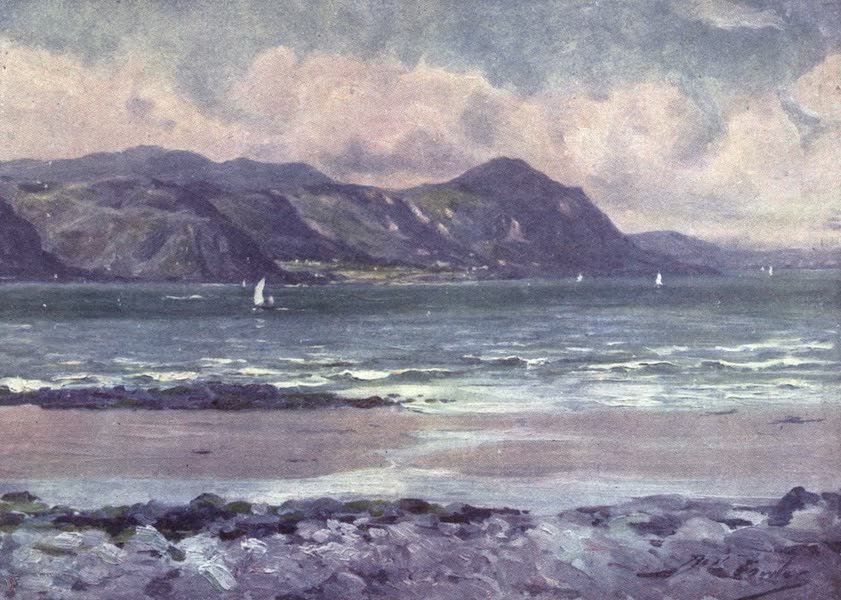 Beautiful Wales Painted and Described - Distant View of Penmaenmawr - Early Morning Light (1905)