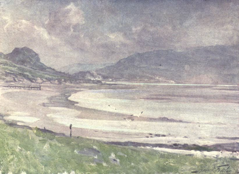 Beautiful Wales Painted and Described - Silvery Light, Conway Shore (1905)