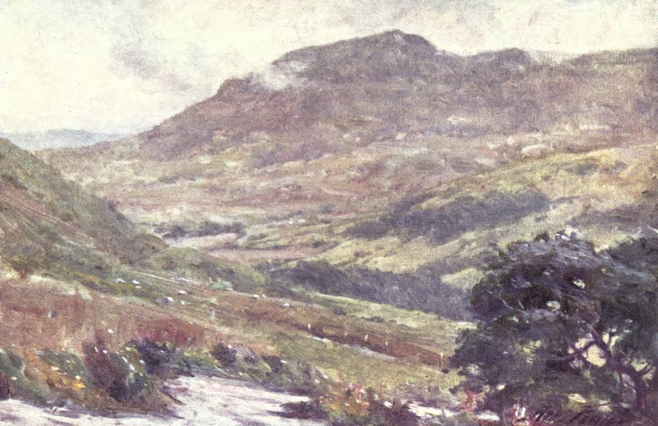 Beautiful Wales Painted and Described - A Mountain Pass - Noon (1905)