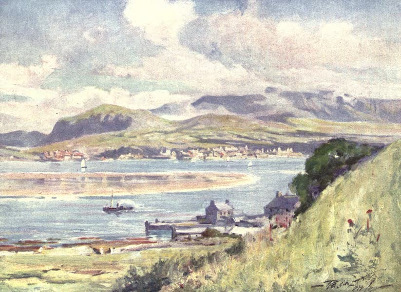 Beautiful Wales Painted and Described - Carnarvon, from Anglesey (1905)